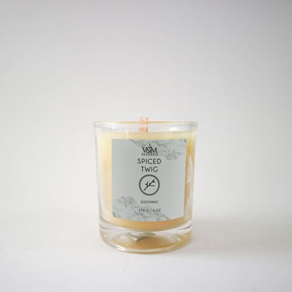 Picture of 100% Pure Beeswax Candle- Spiced Twig
