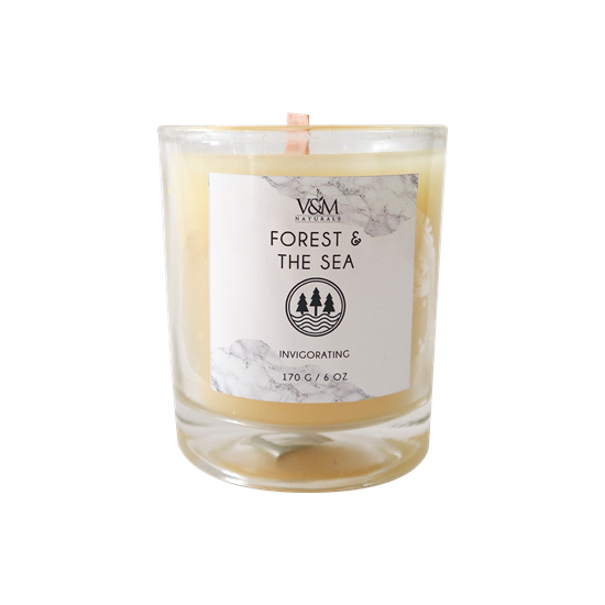 Picture of 100% Pure Beeswax Candle - Forest and the Sea